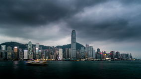 Noche al timelapse del día de Hong Kong metrajes