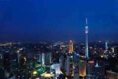 Noche azulada del kilolitro Imagen de archivo