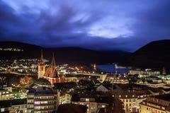 Noche Bingen Rhin Imagen de archivo libre de regalías