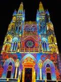 Burgos cathedral. Noche Blanca Burgos royalty free stock image