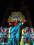 Burgos cathedral. Noche Blanca Burgos royalty free stock images