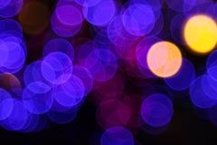 Noche Bokeh ligero Fotografía de archivo libre de regalías