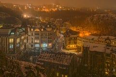 Noche brumosa Foto de archivo libre de regalías