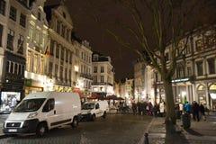 Noche Bruselas Foto de archivo