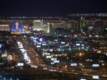 Noche céntrica de Las Vegas Fotos de archivo libres de regalías