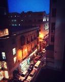 Noche. Centro de la Ciudad de La Paz royalty free stock photo