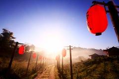 Noche china roja de la linterna Fotos de archivo