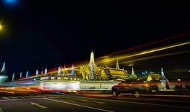 Noche colorida en Bangkok fotografía de archivo libre de regalías