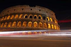 Noche Colosseum Foto de archivo