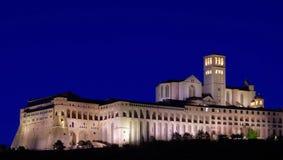 Noche de Assisi Fotografía de archivo