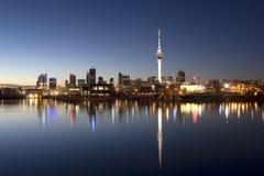 Noche de Auckland Fotos de archivo libres de regalías