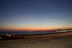 Noche de Baywatch fotografía de archivo libre de regalías