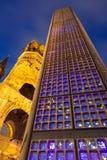 Noche de Berlín Foto de archivo libre de regalías