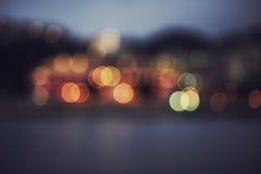 Noche de Bokeh Foto de archivo libre de regalías
