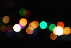 Noche de Bokeh del foco de la falta de definición Imagen de archivo libre de regalías