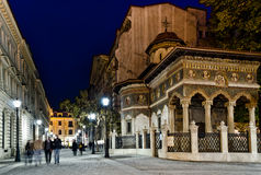 Noche de Bucarest Imagen de archivo