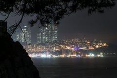noche de Busán Foto de archivo libre de regalías