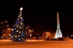 Noche de centro de Cesis Fotos de archivo
