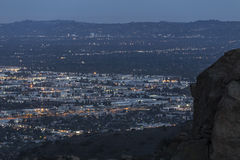 Noche de Chatsworth California Imagen de archivo