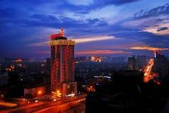 Noche de Chengdu Imagen de archivo libre de regalías