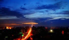 Noche de Chengdu Imágenes de archivo libres de regalías