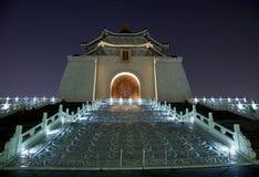 Noche de Chiang Kai-shek pasillo conmemorativo Taipei Imagen de archivo libre de regalías
