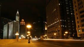 Noche de Chicago Imagen de archivo libre de regalías