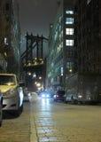 Noche de DUMBO New York City Foto de archivo libre de regalías