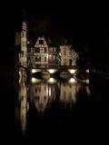 Noche de Estrasburgo, Estrasburgo, Francia Foto de archivo