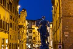 Noche de Florence Street Imagenes de archivo