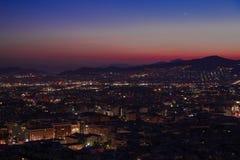 Noche de Grecia Atenas Fotos de archivo