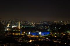 Noche de Ibirapuera, Sao Paulo, el Brasil imagenes de archivo
