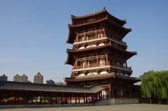 Noche de la arquitectura de China Fotos de archivo