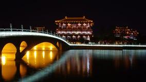 Noche de la arquitectura de China Imagen de archivo libre de regalías