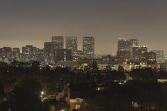 Noche de la ciudad del siglo Foto de archivo libre de regalías