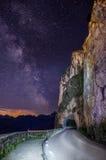 Noche de la cortina D Ampezzo Foto de archivo libre de regalías