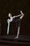Noche de la danza de la muchacha del calentamiento Imagenes de archivo