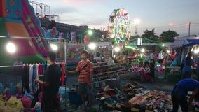 Noche de la diversión en Bangkok, Tailandia almacen de video