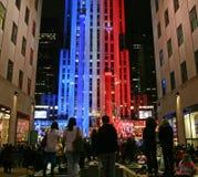 Noche de la elección de Nueva York Imágenes de archivo libres de regalías