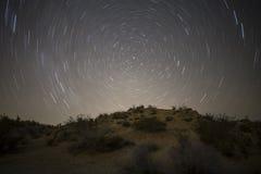 Noche de la estrella del norte del desierto de Mojave Foto de archivo libre de regalías
