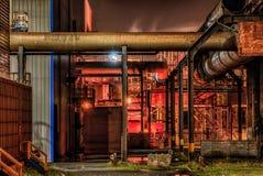 Noche de la fábrica Imagen de archivo libre de regalías