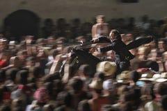 Noche de la festividad del caballo de San Juan Fotos de archivo libres de regalías