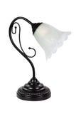 Noche de la lámpara de pie aislada en blanco Fotos de archivo