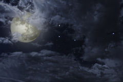 Noche de la Luna Llena Foto de archivo libre de regalías