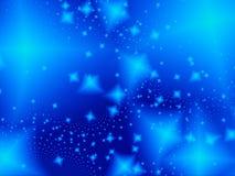 Noche de la luz de las estrellas stock de ilustración