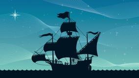 Noche de la navegación de la nave libre illustration