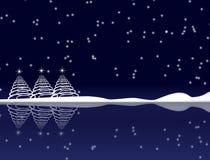 Noche de la Navidad azul stock de ilustración