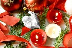 Noche de la Navidad blanca de los sueños dulces del bebé del ángel Imagen de archivo