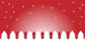 Noche de la Navidad roja Foto de archivo libre de regalías