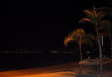 Noche de la playa Imágenes de archivo libres de regalías